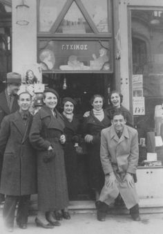 Pic#3-A group of young Greek Jews possed in front of a tobacco store front.jpg